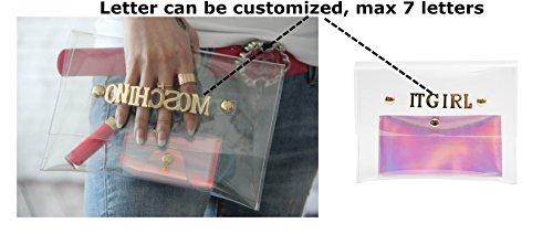 Zarapack ologramma Personalizza il tuo Design trasparente Frizione Borsa, Style 3 (trasparente) - BA924 Style 1