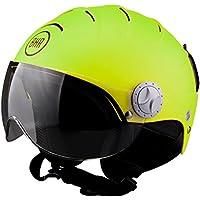 BHR 84095 Casco Demi-Jet Linea Ski 820, Verde metalizado, talla L (