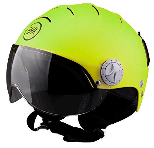 BHR 84095. Helm Demi-Jet Line Ski 820, grün metallic, Größe L (59/60cm)