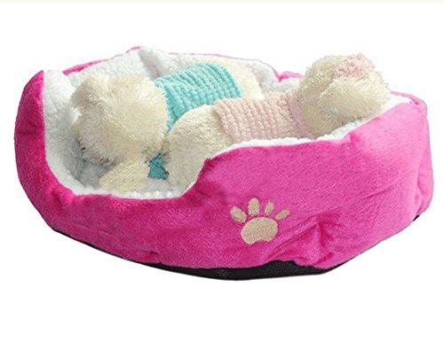 Demarkt Hundebett Katzenbett Baumwolle Pet Bett Kissen für Hunde Katzen Kleintiere (Rosa S 45X35X15CM) (Chihuahua Hundebett)