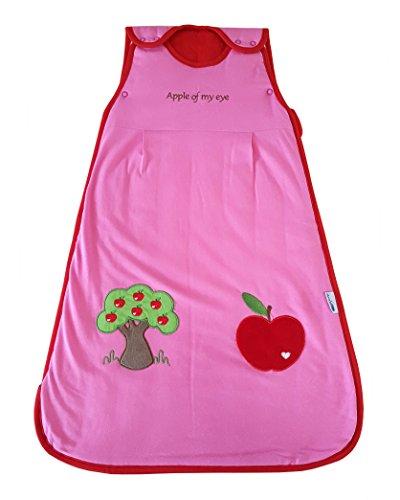 Schlummersack Babyschlafsack in rot für Mädchen Frühjahr/Sommer 1.0 Tog - Roter Apfel -70cm/0-6 Monate