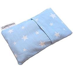 Saco térmico anti-cólicos bebé.Especial recién nacido 17 x 10cm (azul con estrellas)