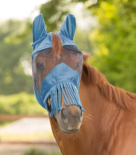 WALDHAUSEN Fliegenmaske mit Ohren und Nasenfransen