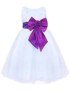 Live It Style It - Abito da principessa senza maniche, con paillettes e fiore a forma di rosa con petali in tulle...
