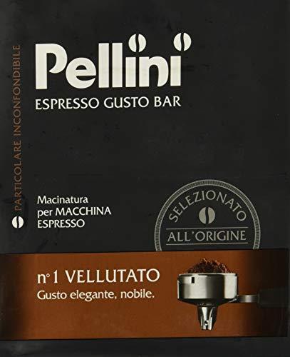 Pellini Caffè, Espresso Gusto Bar Caffè Macinato per Macchina Espresso No. 1 Vellutato - Confezione da 2 x 250 gr (500 gr)