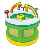 Bieco 22052221 Aufblasbares Laufgitter mit Spielcenter für verschiedene Aktivitäten, Laufstall mit Netzgewebe, Schutzgitter für Kinder, mehrfarbig
