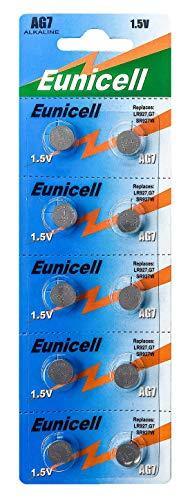 Eunicell AG7 (5 Blistercards = 50 Batterien) EINWEG Markenware