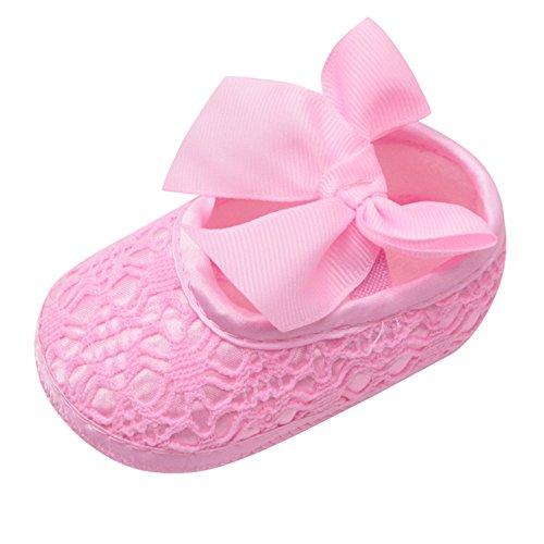 squarex Neugeborenes Baby Weiche Schuhe Weiche Sohlen rutschfeste Bowknot Schuhe Krippe Schuhe Nette Schuhe Atmungsaktive Weiche Unterseite