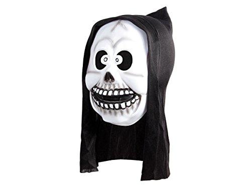 Alsino Horrormaske Gruselmaske Roter Teufel Halloween Weißer Geist Maske Fasching Party Karneval, P973012 Geist