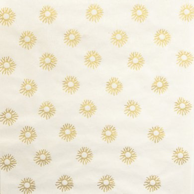 Grehom Wrapping Paper (Set of 4) - Glowing Sun; Handmade Gift Wrap Paper; Of recycled Cotton & Silk fibres; Delivered in a tube; Beautiful Gift