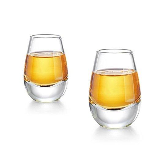 Zens Sake Tassen Set, 2 PCS 40 ml Borosilikatglas Becher, Weingläser für Sake Soju Wein Alkohol