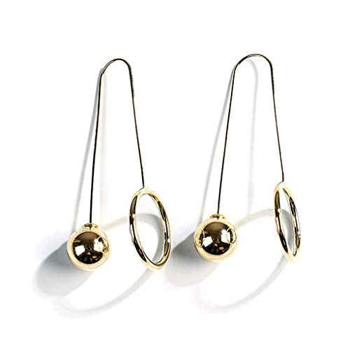 Cutebility Big Round Ball U-Form Drop Ohrringe Statement Ohrringe Frauen Mode Schmuck - Ohrringe Gold Drop Ball