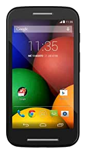 Motorola Moto E Smartphone, Display 4.3 pollici qHD, Processore Qualcomm Dual-Core 1.2GHz, Memoria 4GB, 1GB RAM, Fotocamera 5MP, Android 4.4.2 KitKat, Bluetooth, WiFi, Nero [Spagna]