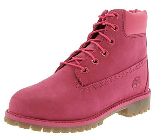 Timberland 6 In Premium Wp Boot Rose Red 35 EU (3 US / 2.5 UK) (Kids) (Boot-rosa Timberland)