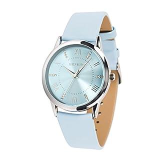 Damen-Armbanduhr-Wasserdicht-Quarz-Klassische-Luxusuhr-mit-Kristall-Zifferblatt-Uhr-Leder-fr-Frau-Mdchen-weiblich