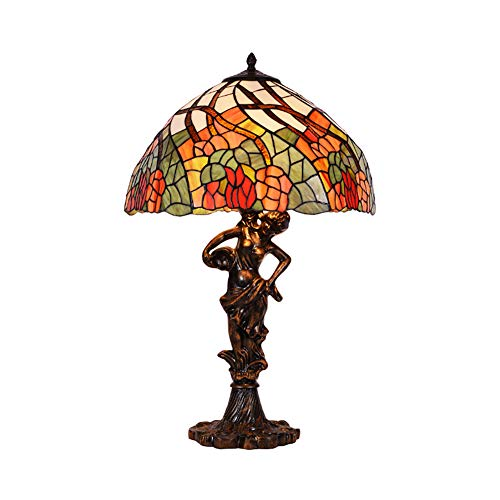 YIAIYW Glasmalerei Tischlampe Nachtlicht Tiffany-Stil, handgefertigt, ist auf jeden Fall EIN besonderes Geschenk für Ihre Liebhaber, Eltern, Kinder, Kollegen -