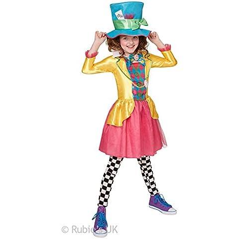 Mad Hatter muchacha - Disney Alicia en el país de las maravillas - Disfraz para niños - 140 cm - Edad 9-10