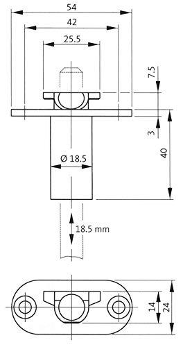 Gu bks Schaltschloss 1895 | Anschlag: DIN links/rechts | Dornmaß (mm): 65 | Stulpbreite (mm): 24