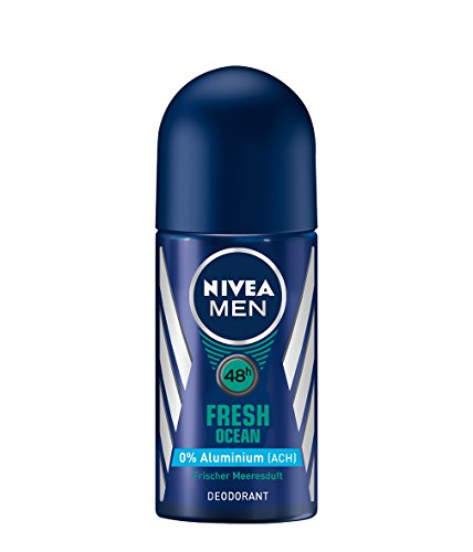 Nivea Roll-on (Nivea Men Fresh Ocean Deo-Roller, Ohne Aluminium, Deo-Schutz, 6er Pack (6 x 50 ml))