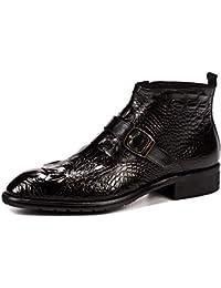 Uomo Abito Ufficio affari del lavoro di vera pelle Slip-On Red Boots da  festa di nozze Nero Oxford Shoes formale… 43f471271a1
