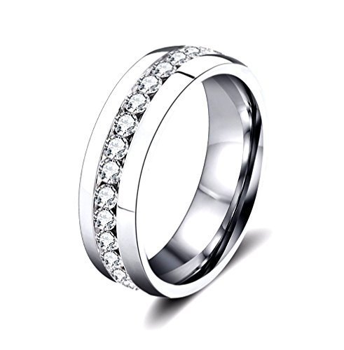 Saga gioielli anello unisex acciaio swarovski elements fedina fidanzamento fascetta (16)