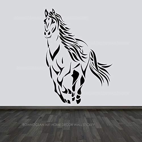 WWYJN Modern Home Decor Running Horse Wall Sticker Vinyl Home Decor Animal Decal Living Room Mural Removable Wallpaper57x79cm