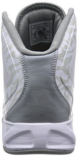 And1 XCELERATE MID Herren Basketballschuhe Weiß (White/Cement-Silver)