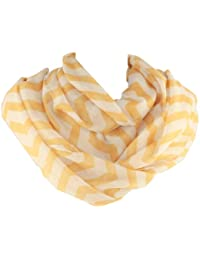 Chevron Print Detail Soft Infinity Loop Figure Eight Scarf