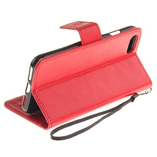 Wkae Case Cover iPhone 7 Cover Case, solide étui en cuir couleur PU Dandelion gaufrage Case Amant Wallet Stand pour iPhone 7 by DIEBELLEU ( Color : 10 , Size : IPhone 7 ) 4