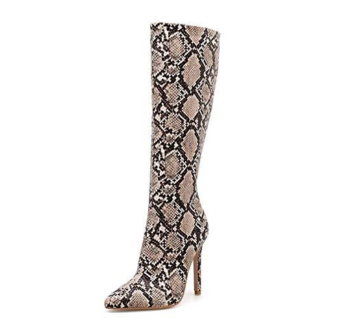 Frauen boomen Winter Sexy Patent Leather Stiletto High Heel Platform Over Knee Thigh Knee Boots Slim Calf Stretch Stage Zip Up Shoes,Black,36EU
