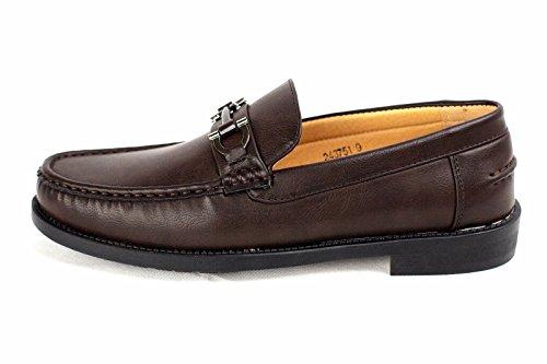 Pour Hommes Chaussures À Enfiler Mocassin Moccasin Élégant Créateur Mode Travail Décontracté Taille 6-12 Café