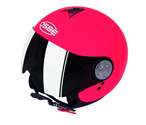 OSBE CASCO MOTO DJ AERO 2 SHINY FUXIA FLUO L