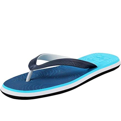 Baymate Moda Colore Uomo Sandali Infradito Antiscivolo Pantofole Blu Graduale rwrqIP