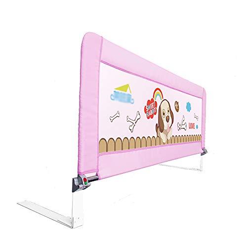 Baby guardrail infrangibile pieghevole da letto baffle fence bambino lettino guardrail lettino da massaggio per bambini universale, 1 lato, 120cm, blu/rosa (colore : pink)