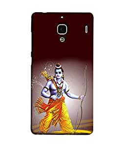 PrintVisa Designer Back Case Cover for Xiaomi Redmi 1S :: Xiaomi Hongmi 1S (Lord Shri Ram With His Bow And Arrows)