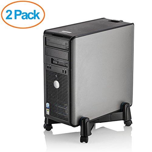 Halter Lz-401 Pc Computer Stand Case Caddy Für Desktop/Tower Fällen Mit Verstellbarer Breite Und 4 Caster Rollen (2Er-Pack) (Desktop-fall-tower)