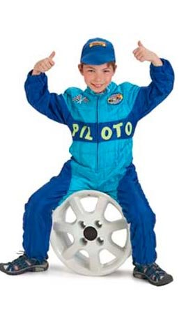 Imagen de disfraz piloto coche infantil. talla 5/6 años.