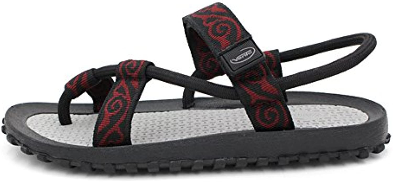 Herren Sommer Sandalen Sportschuhe Outdoor Wanderschuhe Atmungs Schweiß (Farbe : Rot  Größe : 41 1/3)