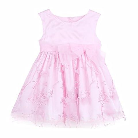 YiZYiF Baby Mädchen Kleider mit 3D Blumen Taufkleid Festlich Kleid Hochzeit Party Kleinkind Kinder Kleidung Festzug Gr. 50 56 62 68 74 80 86 92 Rosa 50-56