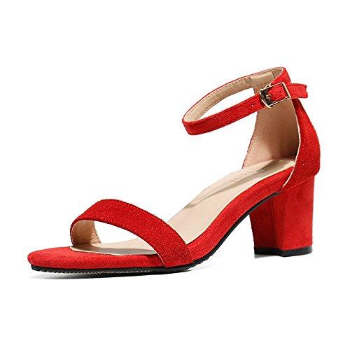 VIVIOO Scarpe col tacco alto Sandali con tacco alto Sandali Donna Scarpe  col tacco alto Scarpe col tacco alto Parola con fibbie Sandali con tacco  spesso ... 4c9bf3e2072