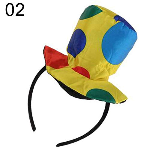 Vektenxi Premium-Qualität Polka Dot Clown Hut Stirnband Haarband Circus Jester Kostüm Prop