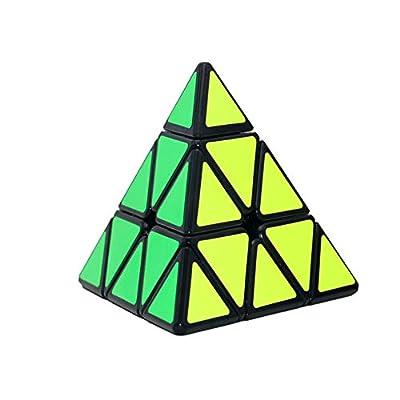 DDG EDMMS 1pc Pirámide Stickerless Cubo de la Velocidad del triángulo del Rompecabezas del Cubo (Negro) de DDG EDMMS