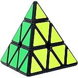 DDG EDMMS 1pc Pirámide Stickerless Cubo de la Velocidad del triángulo del Rompecabezas del Cubo (Negro)
