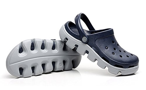 MSM4 Sandali Da Uomo Slippery Soft Sola Shoes Casual Sandals Slippers Students Clogs Blue