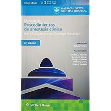 Manual de procedimientos de anestesia clínica (Pocket Notebook)