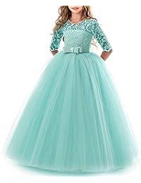 TTYAOVO Mädchen Festzug Ballkleider Kinder Chiffon Bestickt Hochzeit Kleid
