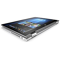 "HP Pavilion x360 14-ba001ns - Ordenador portátil convertible de 14"" HD (Intel Core i3-7100U, 4 GB RAM, 500 GB HDD, Intel HD Graphics 620, Windows 10); Plateado - Teclado QWERTY Español"