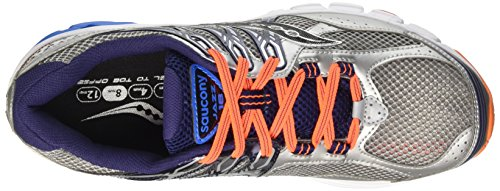 Saucony Jazz 18, Entraînement de course homme Multicolore (Silver/Navy/Royal)