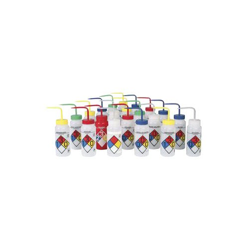 bel-art Produkte f11808-0011LDPE Waschen Flasche, Methanol das, Vierfarb safety-vented und Etikettiert, 250ml Fassungsvermögen, durchscheinend (4Stück) -