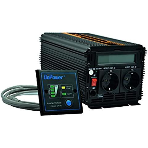 Inversor de corriente 1000 a 2000w convertidor de voltaje 12v a 220v onda sinusoidal pura pantalla